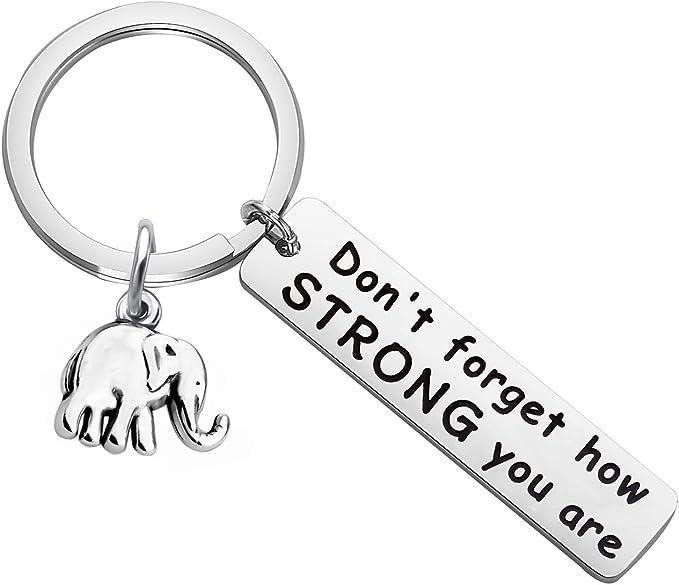 Amazon.com: Llavero de elefante de MYOSPARK, no olvides lo ...