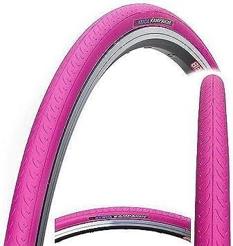 Kenda kampaign K177 - Neumático de bicicleta (700 x 23C, fijo, velocidad única, Fixie, neumático de carretera o bicicleta de pista), Kampaign, rosa: Amazon.es: Deportes y aire libre