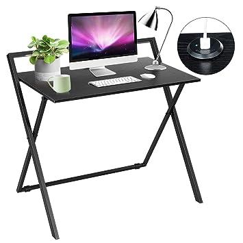 Amazon.com: Tangkula Mesa plegable simple marco de metal ...