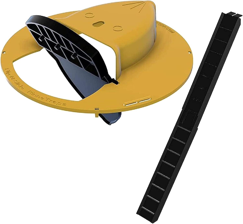 Trampa Para Ratones Con Tapa Deslizante Flip N, Trampa Para Ratones Con Captura Múltiple Automática Trampa Para Rampas Para Ratas, Compatible Con Seguridad, Cubo De 5 Galones Para Caza De Ratas