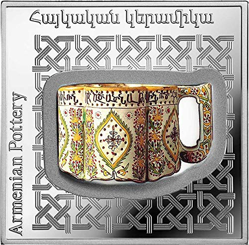 (2018 AM Pottery Of The World PowerCoin ARMENIAN POT 1 Oz Silver Coin 1000 Dram Armenia 2018 Proof)