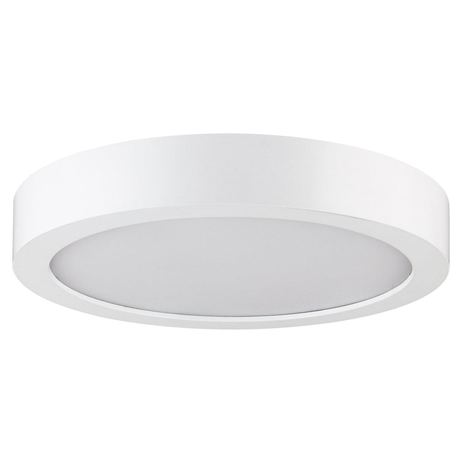 Sunlite 81207 Round Surface Mount Ceiling LED Light Fixture, 7'', 30K-Warm White
