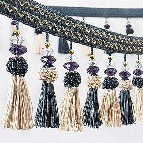 Curtain Fringe Braid Trim Beaded Tassel Apparel Furnishing Sewing Craft By Metre