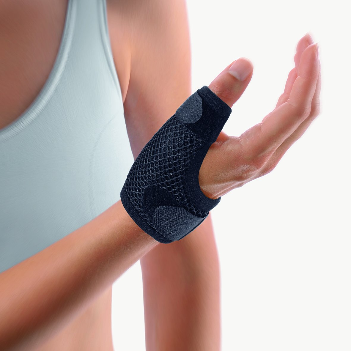 Bort Soft Thumb Splint, Arthritis, Thumb Spica, Breathable, immobilization of The metacarpophalangeal, CMC, Basal and MCP Joint, Trigger Thumb, Germany 112710- Large, Black, 7.5'' - 8.3'' inches