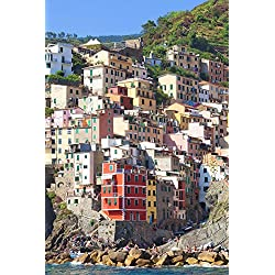 Italy Liguria Cinque Terre Riomaggiore Poster Print (36 x 12)