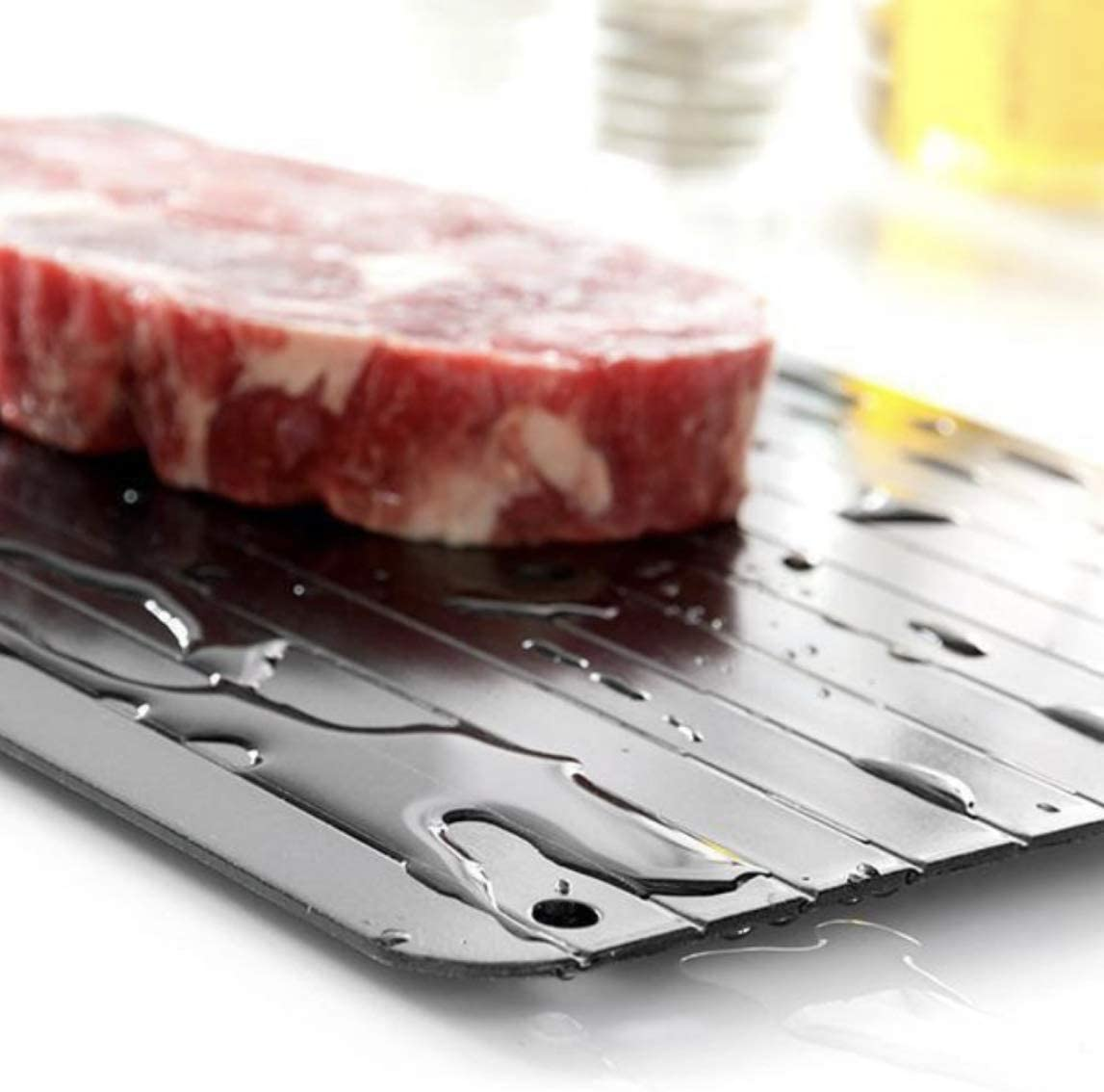 Defrosting Tray | Meat Thawing Board | Eco Friendly Defrost | Food Safe Aluminum - Fast Fresh Healthy [ Limited Time, Introductory Price]