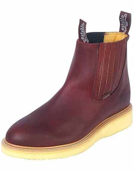 Amazon.com | ESTABLO Botin Trabajo ID 321 (Bot) Piel Grasso Shedron | Boots
