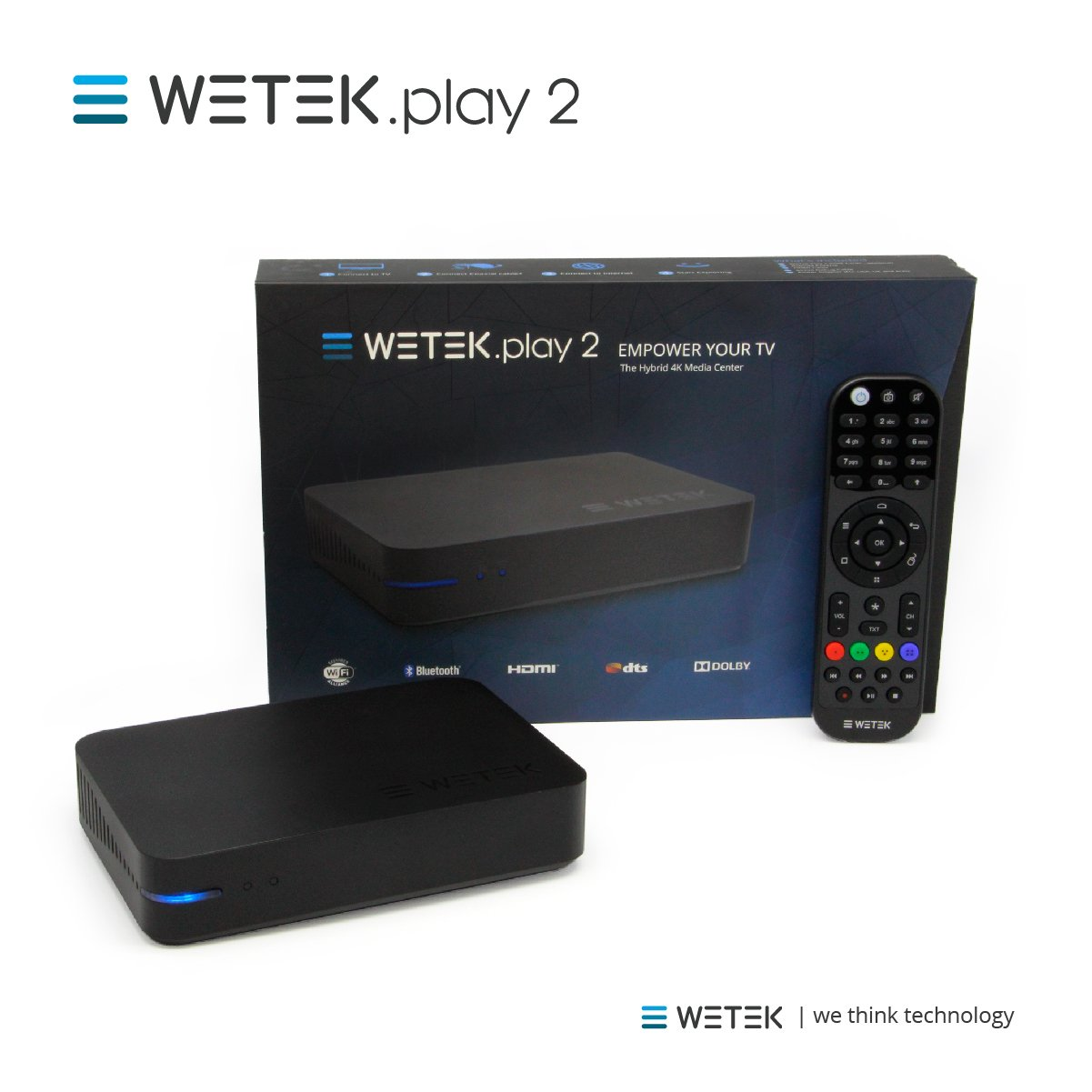 WeTek Play 2 Hybrid Android Set-top Box 4K Ultra HD IPTV/OTT 2 GB DDR3 H.265 (ATSC)
