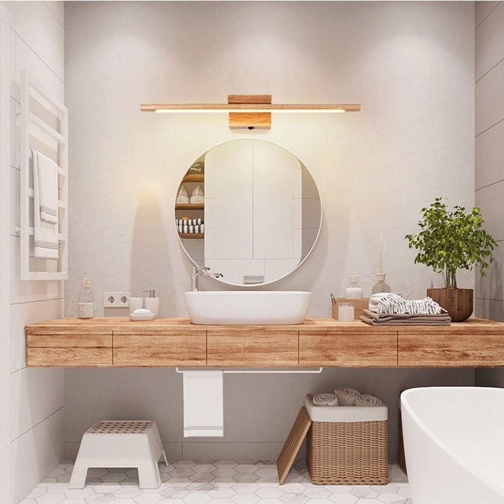 YUNLVC Led-spiegellamp, moderne wandlamp, Europese badkamerlamp, frontspiegel met schakelaar voor lampen voor badkamerspiegel Witte verkoudheid.
