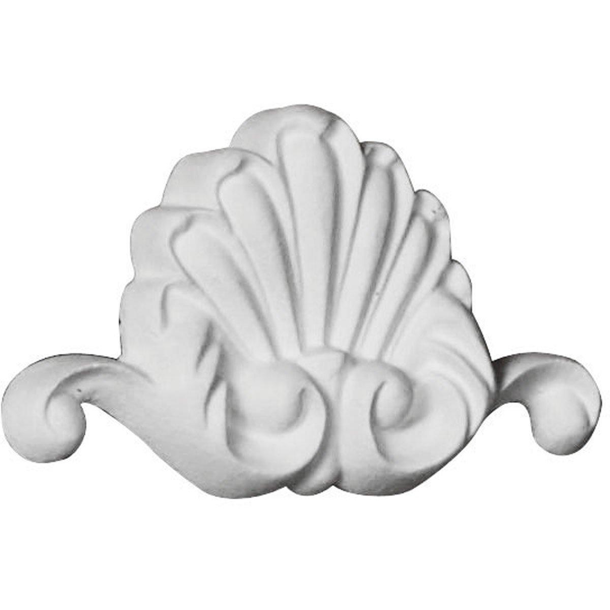 Ekena Millwork ONL03X02X00BO 3''W x 1 3/4''H x 3/8''P Bordeaux Shell Onlay White by Ekena Millwork (Image #2)