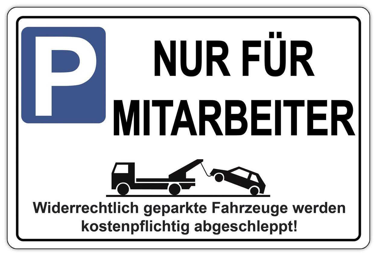Cartel solo para empleados Aparcamiento señal de prohibido ...