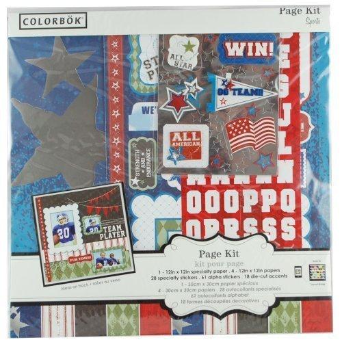 Colorbok All-star Sports Scrapbook Page Kit (Colorbok Kit Scrapbook)