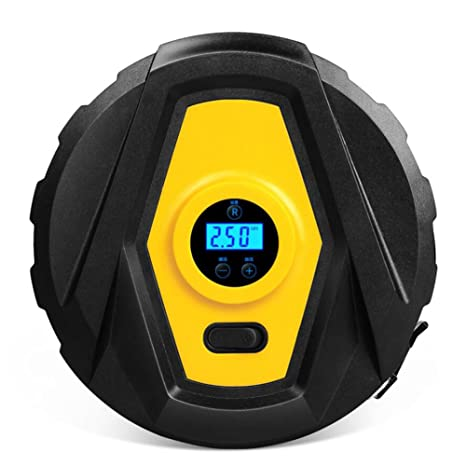 YLG Compresor De Aire Ronda, Automático con Pantalla Digital, Inflador, Luz LED,