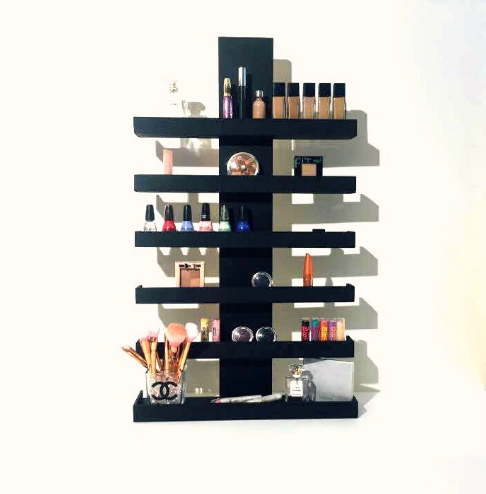 Wall Mounted Makeup Organizer, Makeup Organizer, Makeup Storage, Makeup Shelf, Cosmetic Display, Wood Makeup Organizer, Essential Oils Shelf, Oils Organizer, Gifts for Her