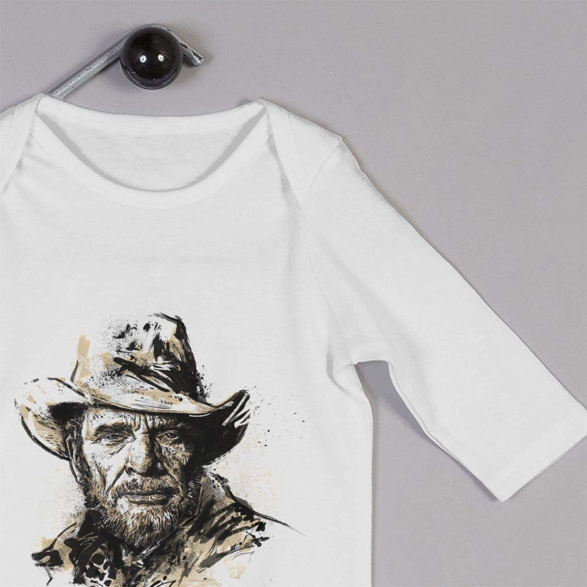 Qq1-asd-store Merle Haggard Boys//Girls Baby Cotton Long Sleeve Romper Warm Bodysuit