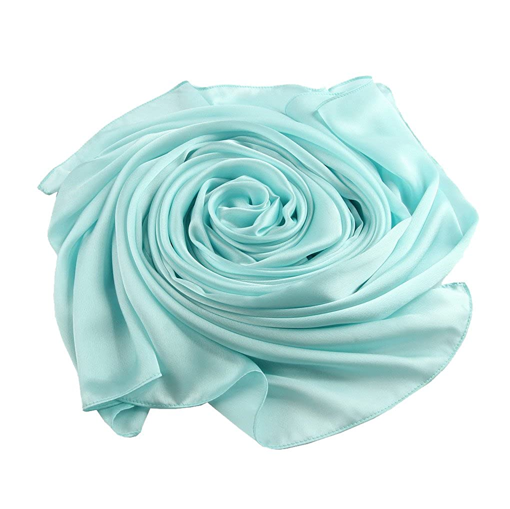 fb3cdd148fed9 ACMEDE Echarpe Foulard Long Doux Elegant En Soie Coton Cou Wrap Chale Pour  Femme Ete Hiver