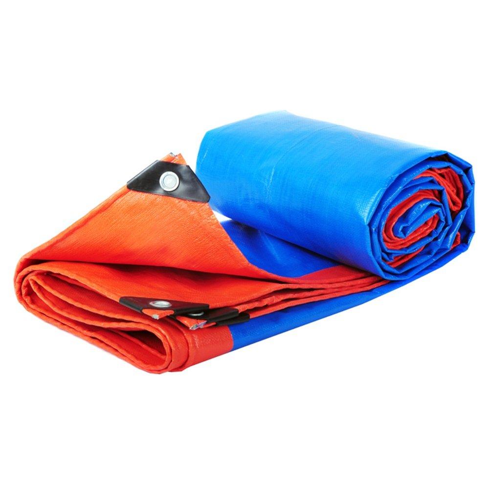 LEGOUGOU Starke Blaue Wasserdichte Plane Für Für Für Camping, Angeln, Garten Und Haustiere. Blauer Und Orangefarbener Outdoor-Camping 200 G   M2, Stärke 0,35 Mm B07MGBPKPG Zeltplanen Das hochwertigste Material 1526cb