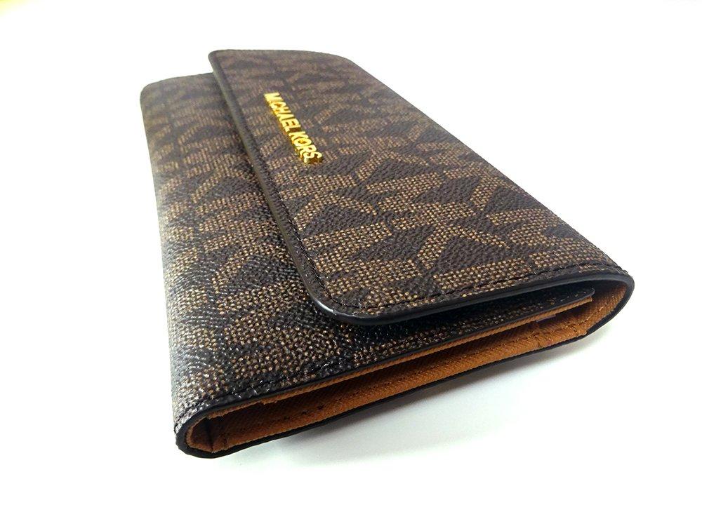 Michael Kors Jet Set Travel Large Trifold Leather Wallet Brown/Acorn by Michael Kors (Image #3)
