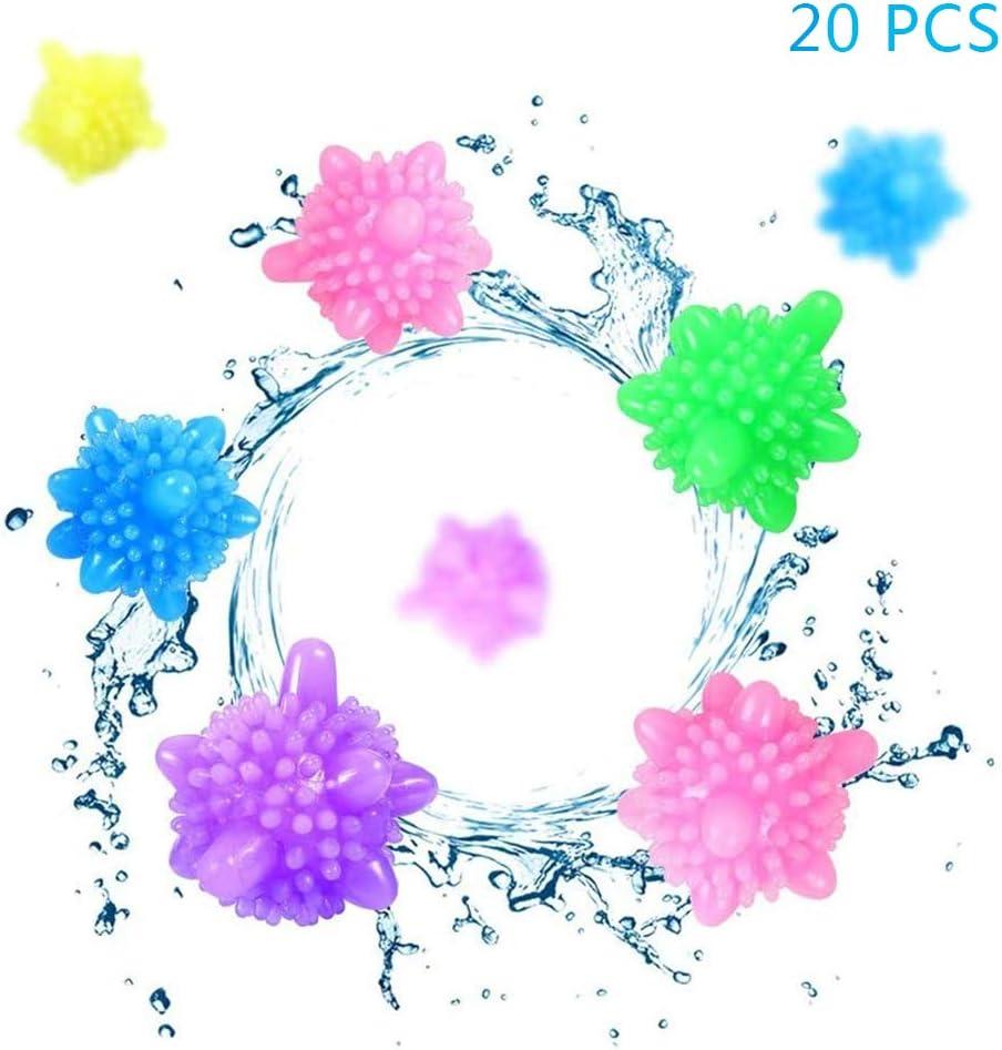 KP&CC 20 Pcs Bolas Secadoras Antiarrugas,Removedor De Arrugas,Bola De Lavanderia Secadora De Bolas De Secado Suavizado De Bolas Bola De Vapor, Ideal para Secar Ropa,Color Aleatorio