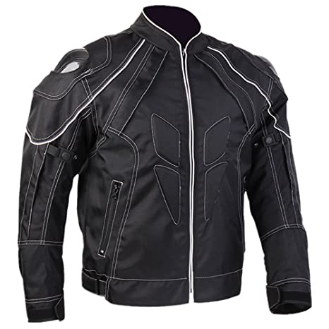 ILM Motorcycle Jackets Carbon Fiber Armor Shoulder Moto Jacket for Men and Women (XL, BLACK)