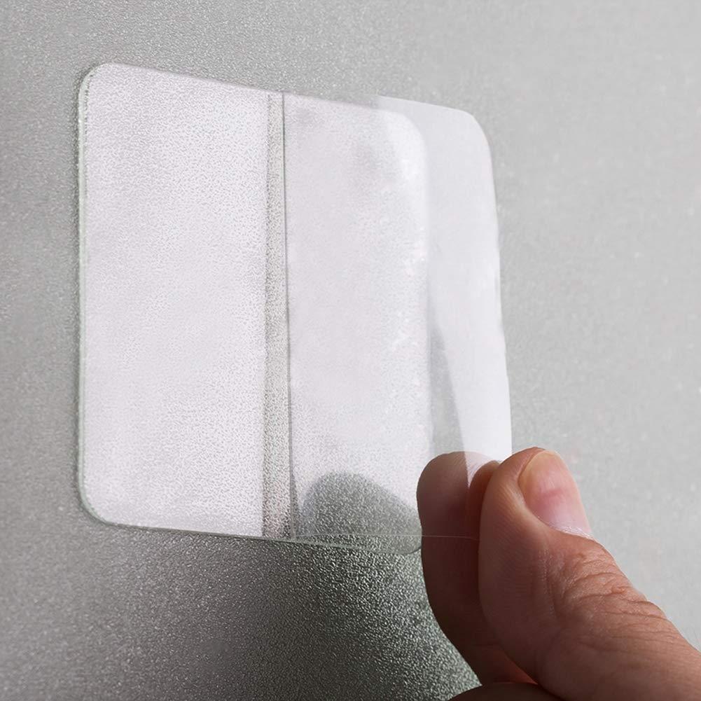 Savlot Autocollants adh/ésifs Double Face Transparents carr/é 10pcs Fort Collants protecteurs Collants Collants sans Trace protectrices Transparentes de Trace Transparentes imperm/éables