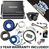 Kicker 43CXA3001 Car Audio Sub Amp CXA300.1 with Remote & 8 GA Amplifier Accessory Kit - 3 Year Warranty!