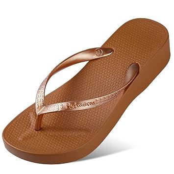 Zapatillas Mujer Havaianas Altura del Talón 3.5Cm Casual Antideslizante: Amazon.es: Deportes y aire libre