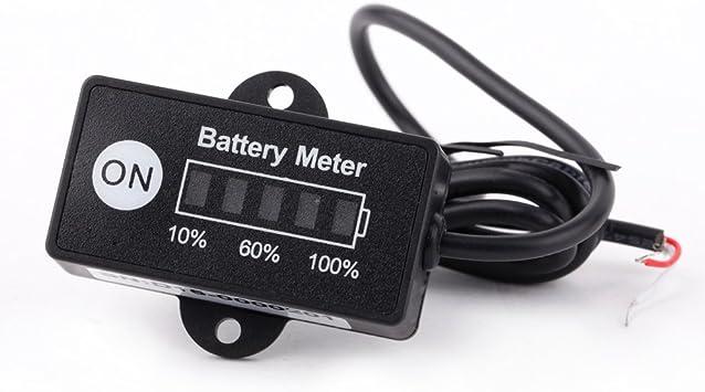 Voltmeter LED Batteriezustand  12 Volt// 24V Wohnmobil Solar Batterieüberwachung