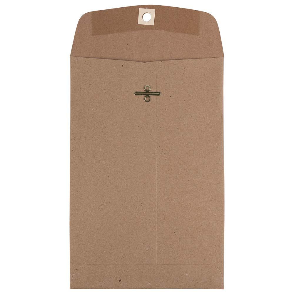 JAM PAPER 6 x 9 Premium Invitation Envelopes with Clasp Closure - Brown Kraft Paper Bag - 50/Pack by JAM Paper