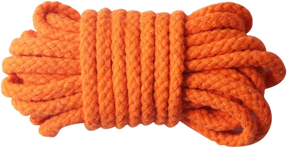 7 mm di larghezza corda di cotone intrecciato naturale per fai da te e artigianato Orange Edgeam 10 metri