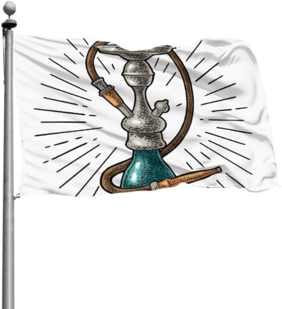 Yushg Bandera Decorativa Rayas de cachimba Grabado de época Decoración de Fiesta Banderas Bandera Decoración de Dormitorio 4x6 Ft (120x180cm) Poliéster con Ojales Decoraciones Interior/Exterior