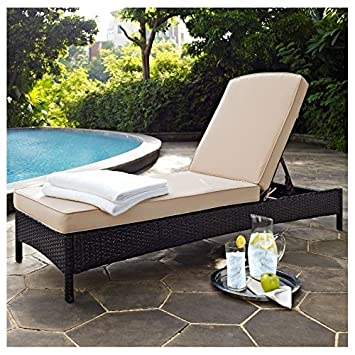 Home Garden Patio Belton Chaise Lounge With Cushion