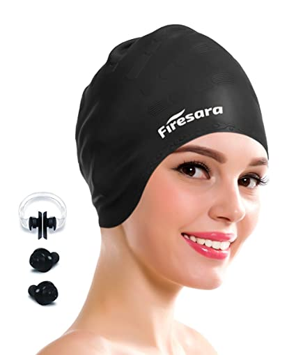 59726e5ace7a Amazon.com   Firesara Swimming Cap for Long Hair
