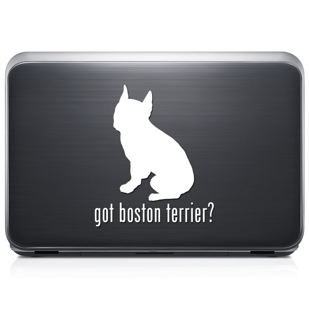 Got Boston Terrier犬ペット取り外し可能なビニールデカールステッカーforラップトップタブレットWindows壁装飾車トラックオートバイヘルメット (12 in / 30 cm) Tall RSGT239-12MWH (12 in / 30 cm) Tall グロスホワイト B076QJBT5L