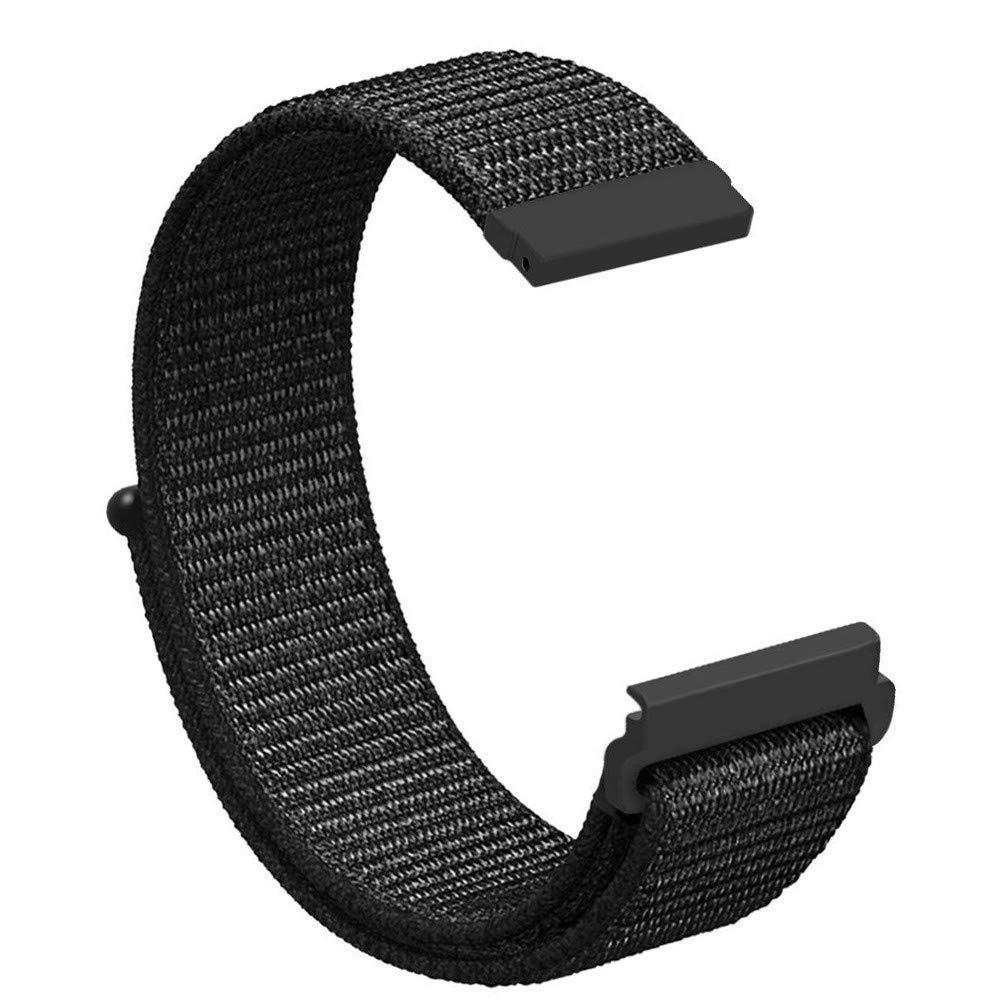 for Samsung Galaxy Watch 42mm / 46mm,Vanvler Luxury Soft Nylon Replacement Watchband Sport Loop Wrist Strap for Samsung Galaxy Watch Clearance (for Samsung Galaxy Watch 42mm, Black)