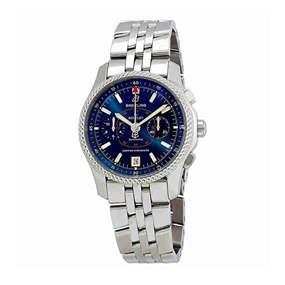 Breitling Bentley automático cronógrafo azul Dial Mens Reloj p2636212/c707-ss: Amazon.es: Relojes