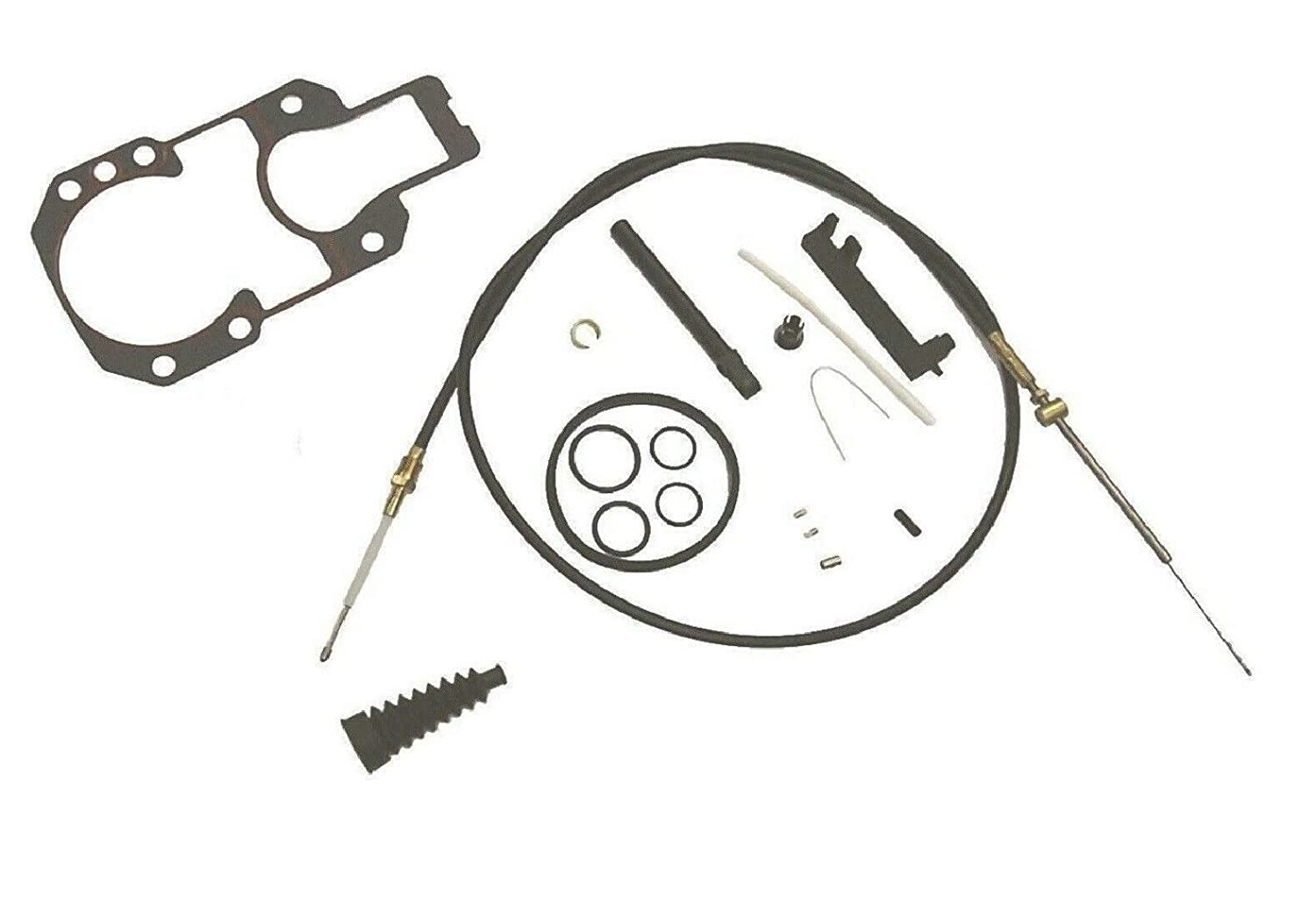 Shift Cable Kit with Bellows Gasket Set for Mercruiser Alpha One /& Alpha One Gen II 1983 Present with AFT Install Cables Replaces 18-2603 18-2190 Read Product Description for Exact Applications