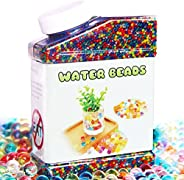 Elongdi Water Beads Pack Rainbow Mix 50,000 Beads Growing Balls, Jelly Water Gel Beads for Spa Refill, Kids Se
