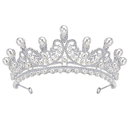 2eb00eb7208 Amazon.com  Outflower Tiara Prinecess Crown Queen Crown Headband ...