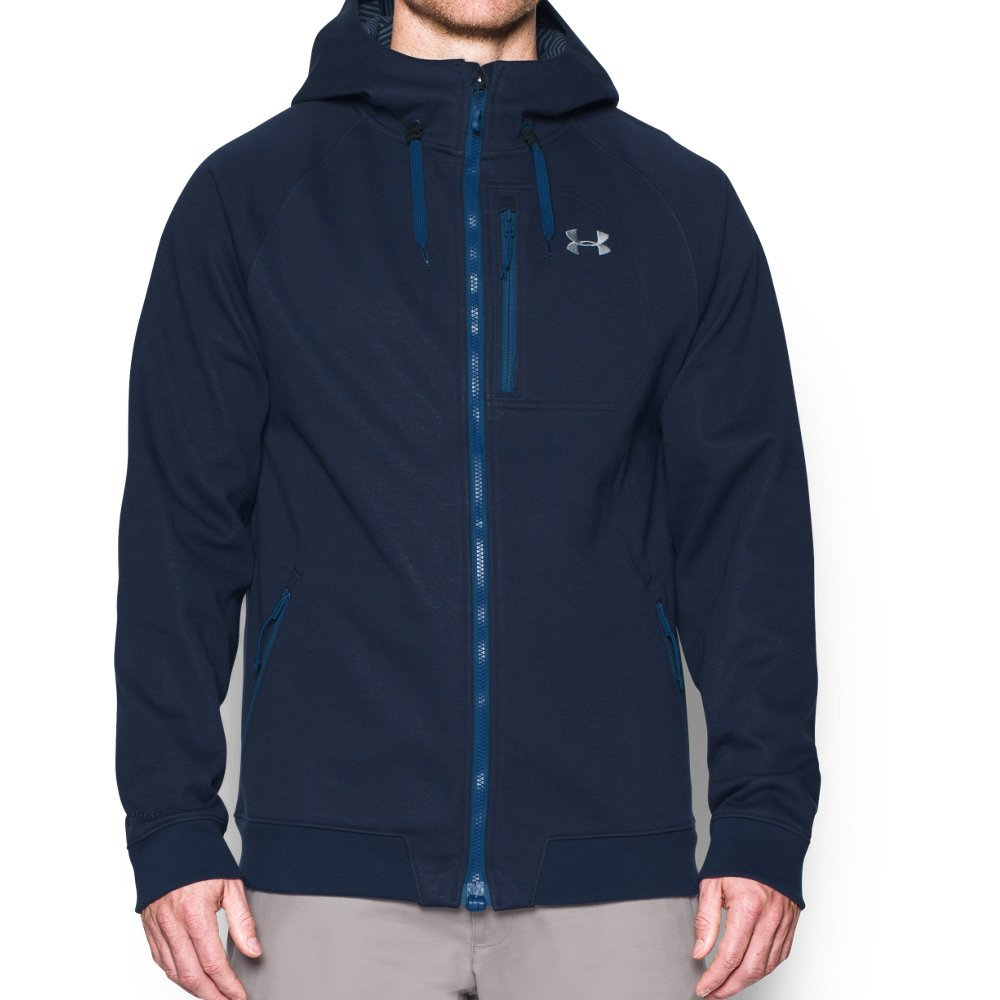 Under Armour Men's Storm Dobson Softshell Jacket, Midnight Navy (410)/Overcast Gray, Medium by Under Armour