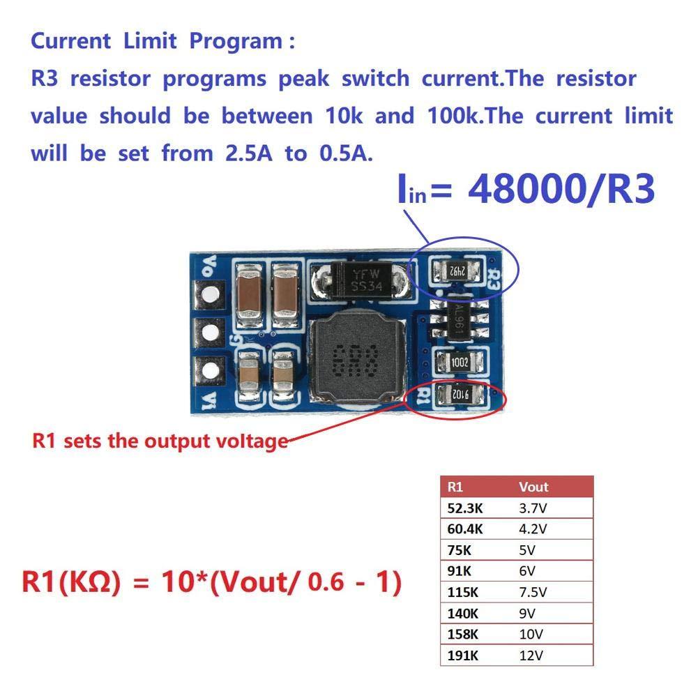 6V, with Pin 2Pcs DC-DC Boost Converter Module 2.6-5.5 /à 5V//6V//9V//12V R/égulateur de tension /él/évateur Convertisseur de tension pour moteur LED