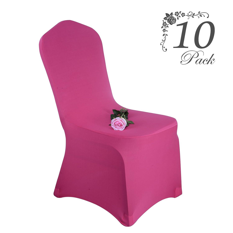 Voilamart Fundas para sillas pack de 10 fundas sillas comedor fundas elásticas, cubiertas para sillas,bielástico Extraíble funda, muy fácil de limpiar, ...