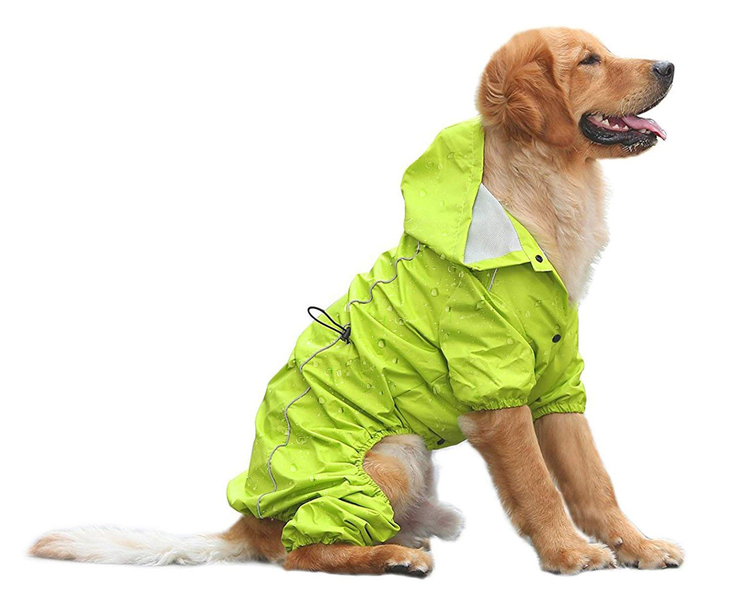 Green L Green L OSPet Summer Comfort Breathable Waterproof Four Feet Raincoat for Large Dog