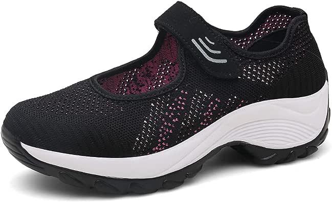 Zomine - Zapatillas Deportivas para Mujer, Ligeras, Transpirables, para Correr y Caminar, Color Negro, Talla 39 1/3 EU: Amazon.es: Zapatos y complementos