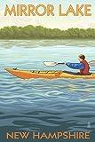 Mirror Lake, New Hampshire - Kayak Scene