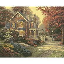 Plaid Creates Paint by Number Kit, 16 by 20-Inch, Victorian Autumn by Thomas Kinkade