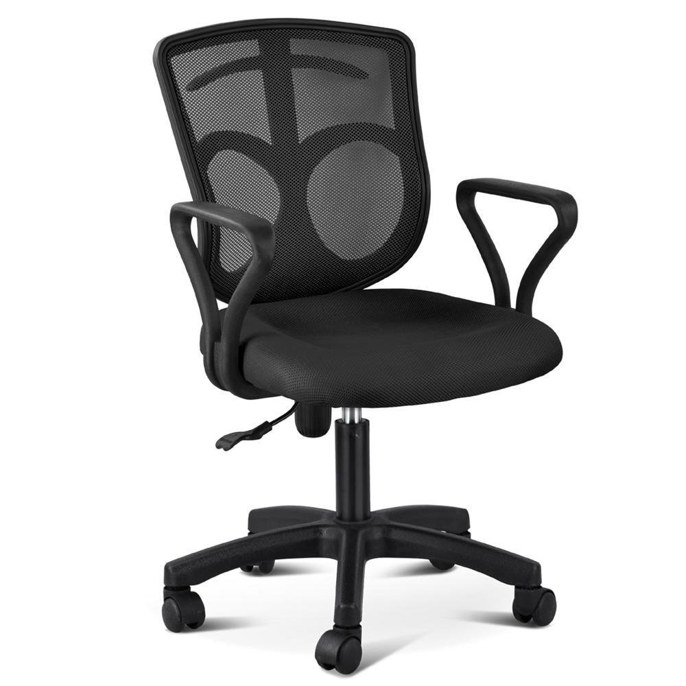 Yaheetech Swivel Mesh Computer Chair, Task Chair for Home Office Ergonomic Adjustable w/Metal Base Mid-Back