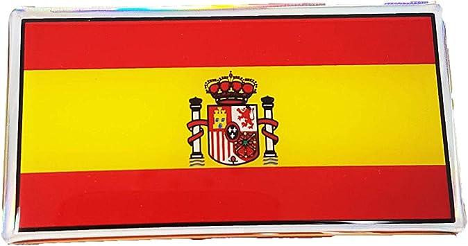 Quattroerre - 14002. Pegatina adhesiva en 3D de la bandera de ...