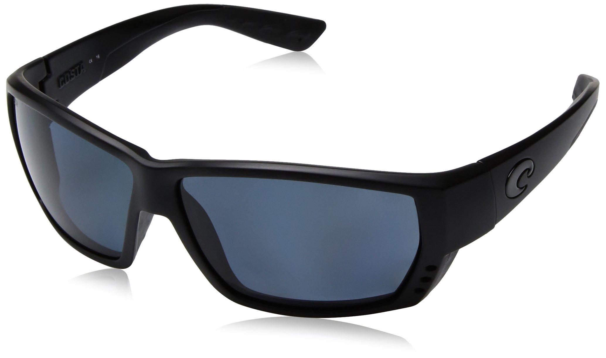 Costa Del Mar Tuna Alley Sunglasses, Blackout, Gray 580P Lens