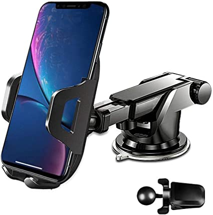 Car Cell Phone Holder for Car Car Phone Mount Car CLING Cellphone Holder for Car Gray Compatible with Samsung Note 10 Plus Bike Phone Mount Holder Car Mount for Cell Phone Car Mount